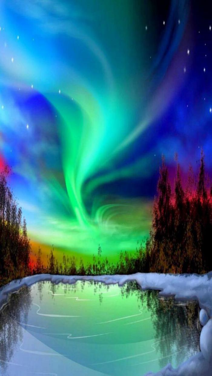 aurores-boréales-spectacle-féérique-au-dessus-d'un-paysage-d'hiver