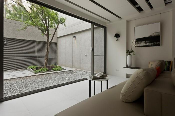 aziatique-chambre-salon-portes-colisants-quelle-deco-peinture-chambre-à-coucher-zen