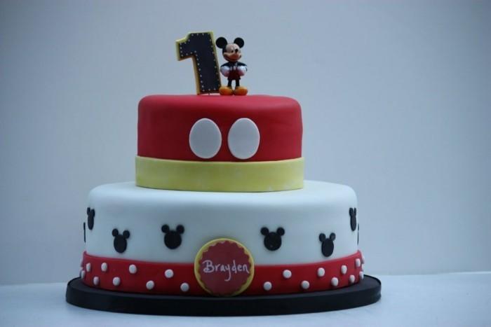 beau-gâteau-d-anniversaire-enfant-idée-déco-Mickey-Mouse-gâteau-d-anniversaire-enfant