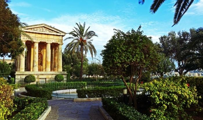 beauté-de-la-Vallette-à-Malte-vacances-Barrakka-jardins