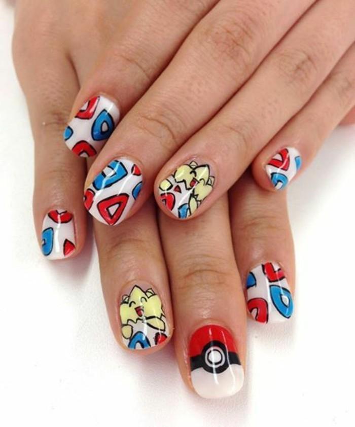 belle-idée-pour-la-deco-ongle-originale-idée-chouette-pokemon