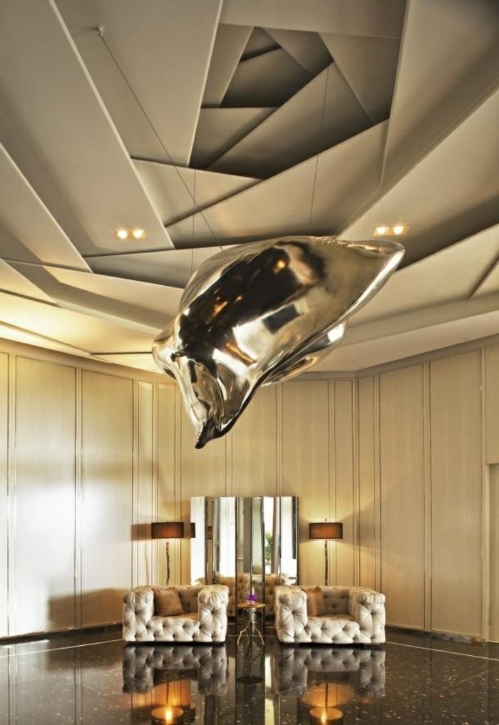 Faux Plafond Chambre 2016 : Maison stylée contemporaine à l aide de plafond moderne