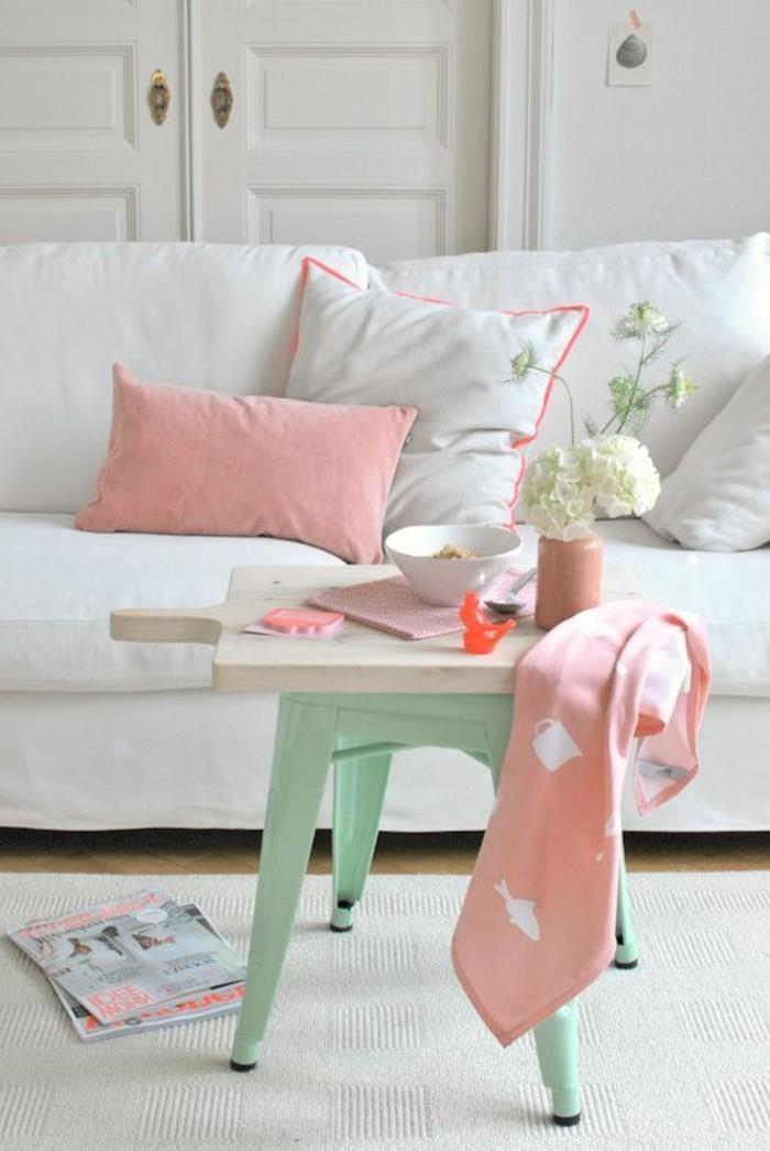 Salon Blanc La Valentine : La couleur saumon les tendances chez couleurs d