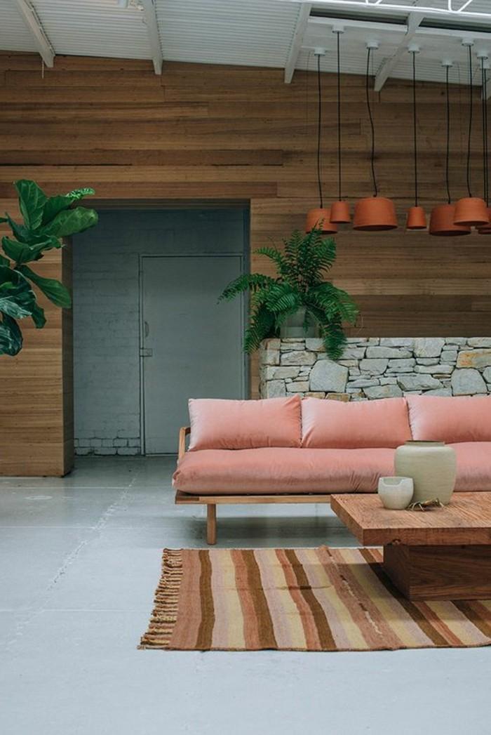 la couleur saumon les tendances chez les couleurs d. Black Bedroom Furniture Sets. Home Design Ideas