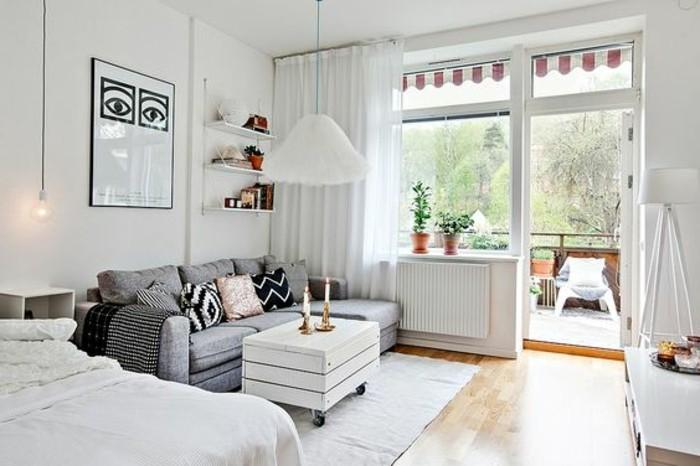 Meubler un studio 20m2 voyez les meilleures id es en 50 for 2 canapes dans un petit salon