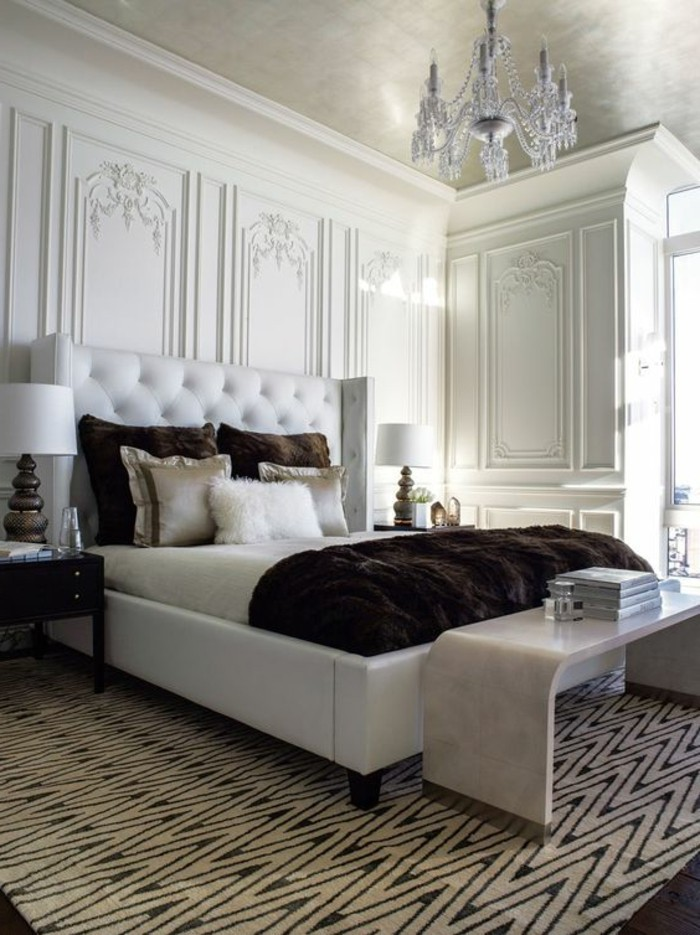 chambre a coucher en bois blanc. Black Bedroom Furniture Sets. Home Design Ideas