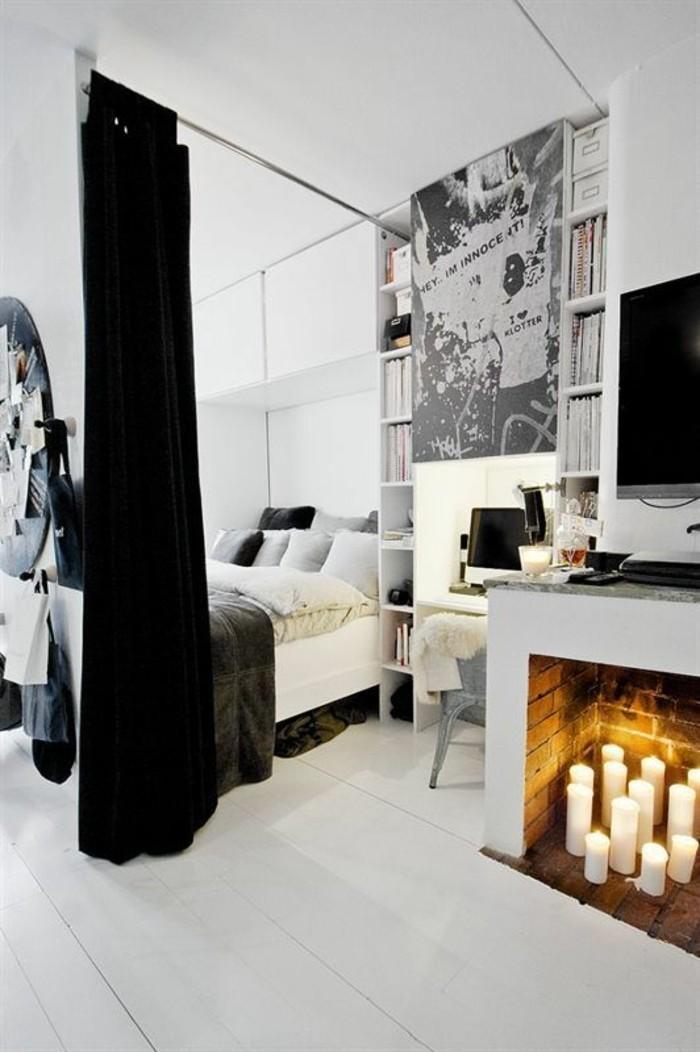 chambre-a-coucher-rideaux-noir-pour-separer-le-lit-de-la-chambre-a-coucher-