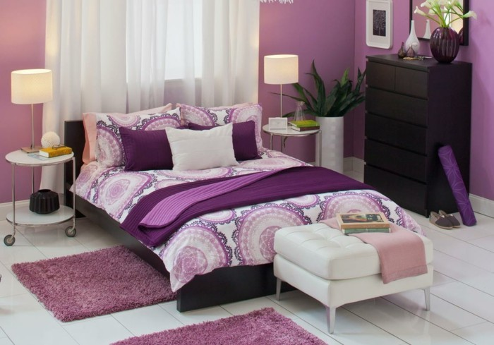 Chambre adulte originale 80 suggestions for Chambre adulte mauve