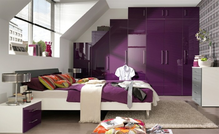 Chambre adulte originale 80 suggestions - Chambre adulte violet ...