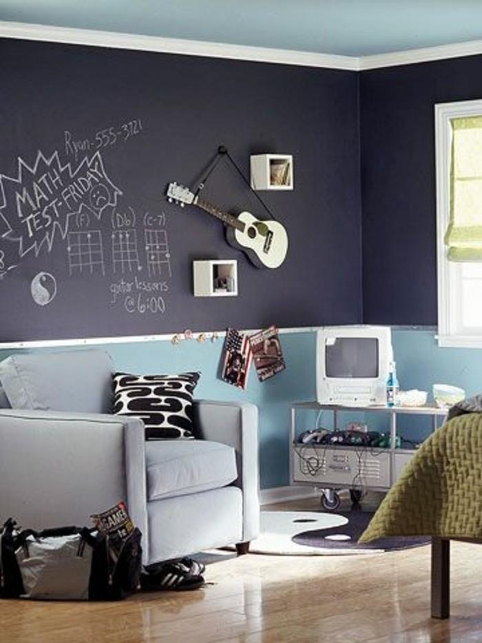 chambre-d-ado-garçon-deco-pas-cher-conforama-chambre-ado-mur-gris-anthracite-meubles-chambre-ado