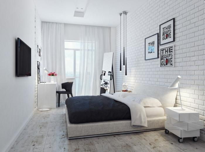 Am nager la chambre parentale avec nos 56 propositions for Decoration mur de chambre adulte