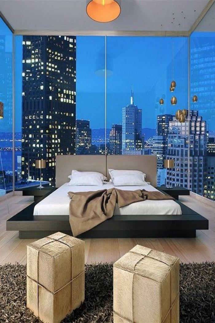 emejing chambre parentale moderne photos design trends. Black Bedroom Furniture Sets. Home Design Ideas