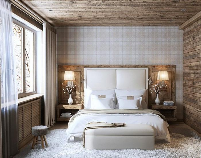 Best Chambre Blanche Et Bois Pictures - Home Decorating Ideas ...