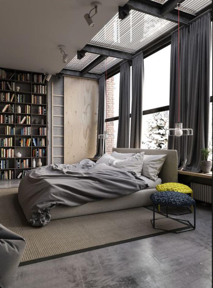 chambre-parentale-couleur-chambre-parentale-gris