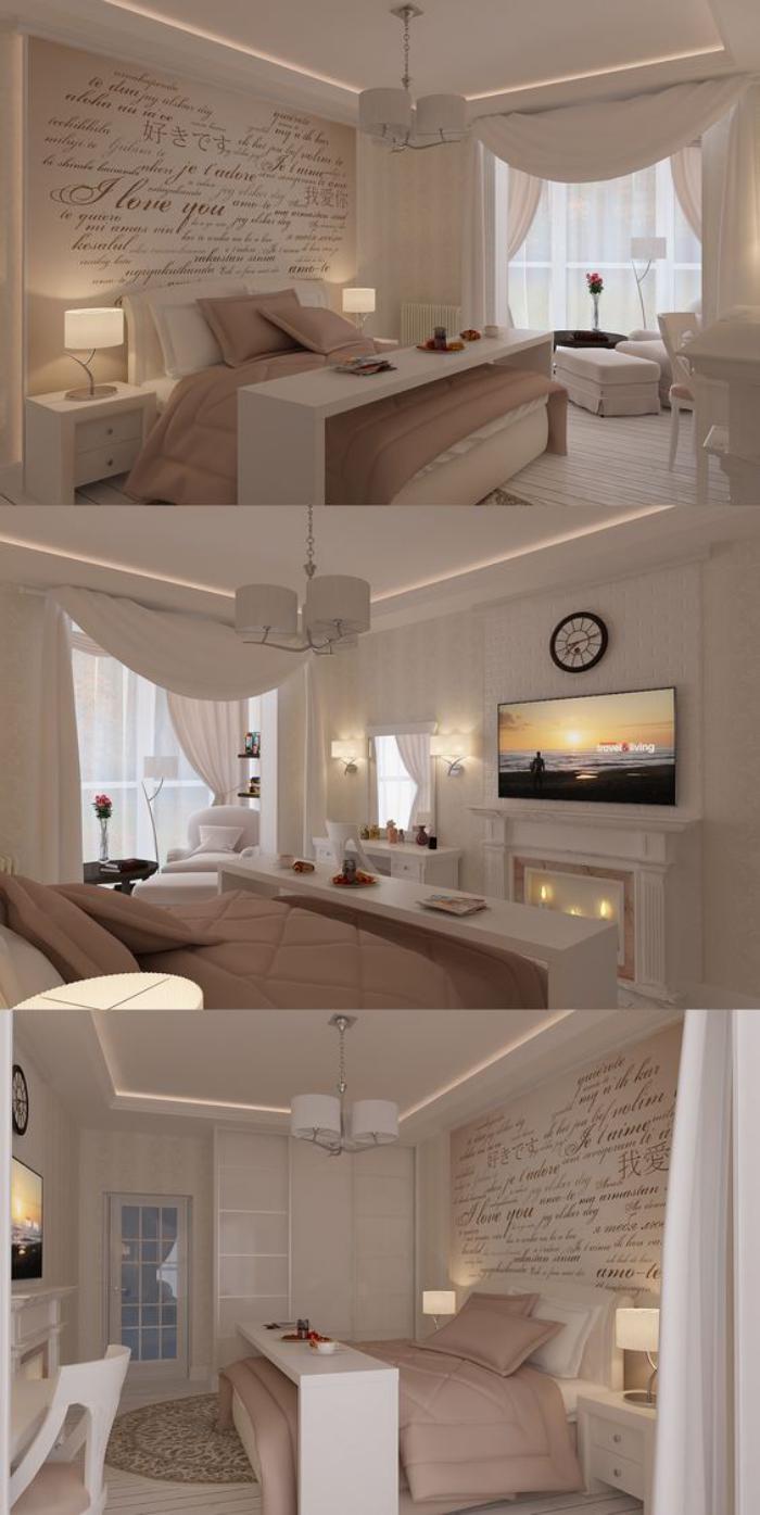 chambre-parentale-décoration-chambre-parentale-crème