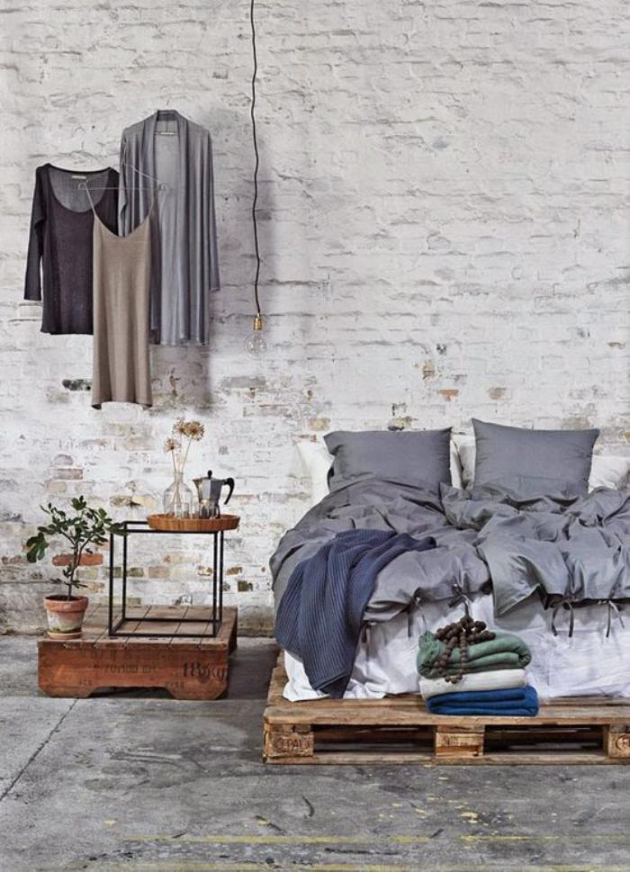 chambre-parentale-décoration-chambre-parentale-meubles-en-palettes