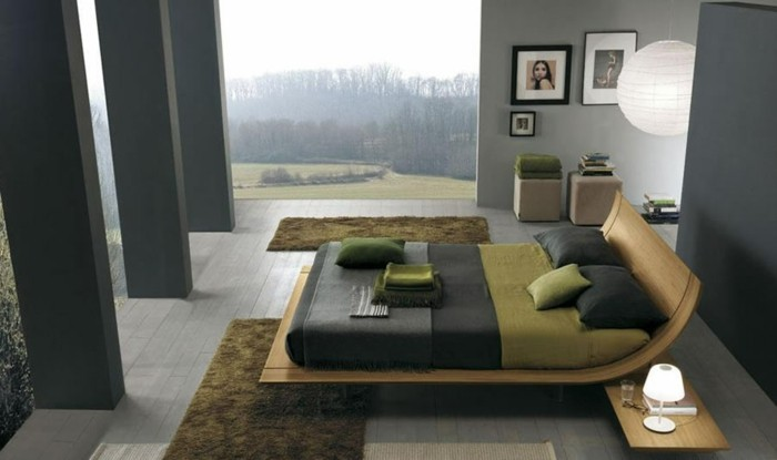 design pour chambre verte zen idee chambre zen lit de forme - Chambre Verte Zen