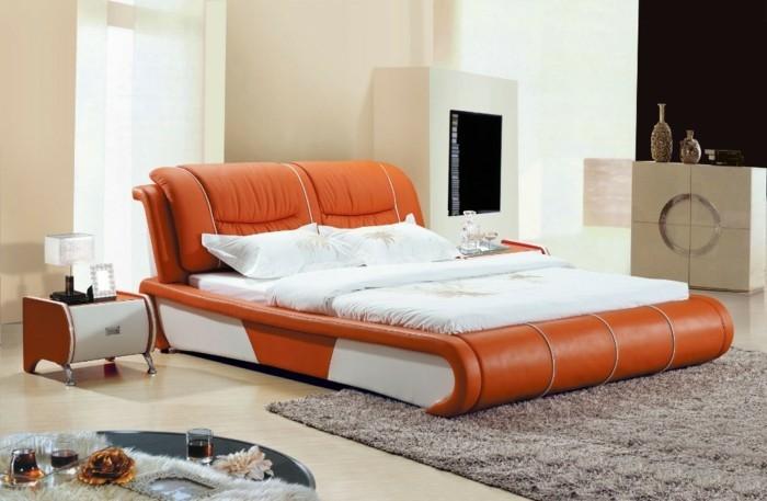 Chambre blanc orange ~ Design de maison