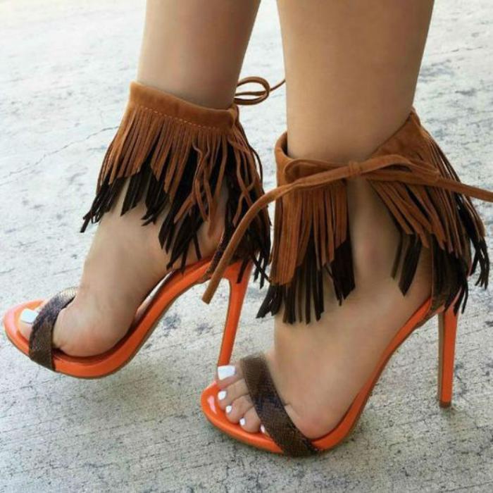 chaussures-à-franges-sandales-haut-talon-semelle-orange