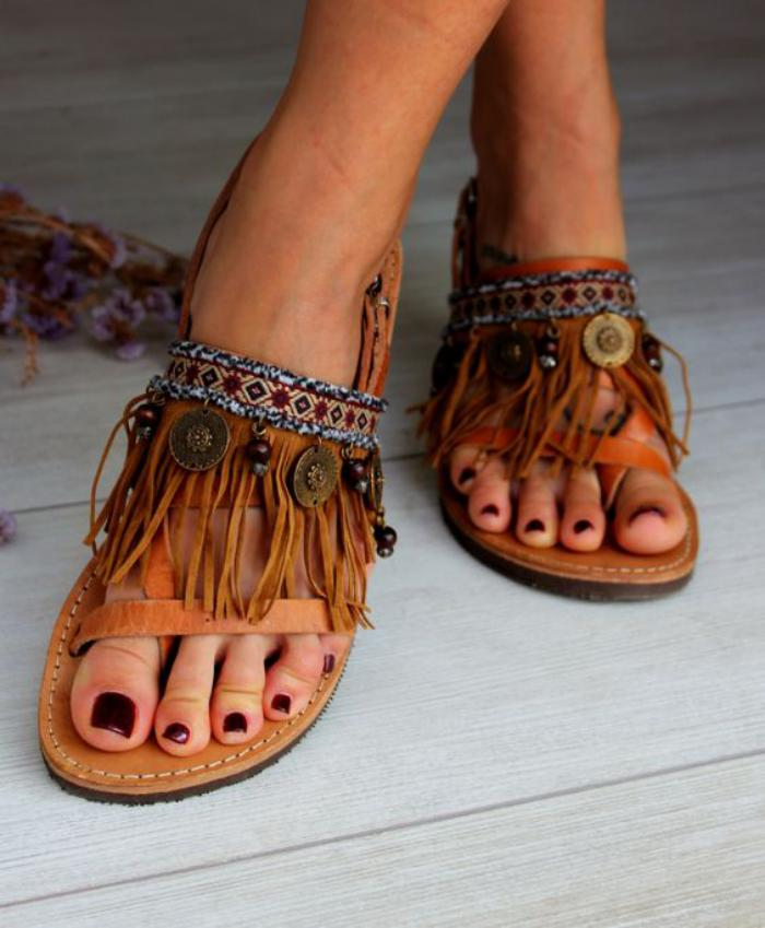 chaussures-à-franges-sandales-plates-style-boho-chic