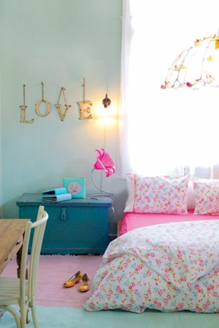 Lampe murale chambre fille for Chambre ado rose et gris