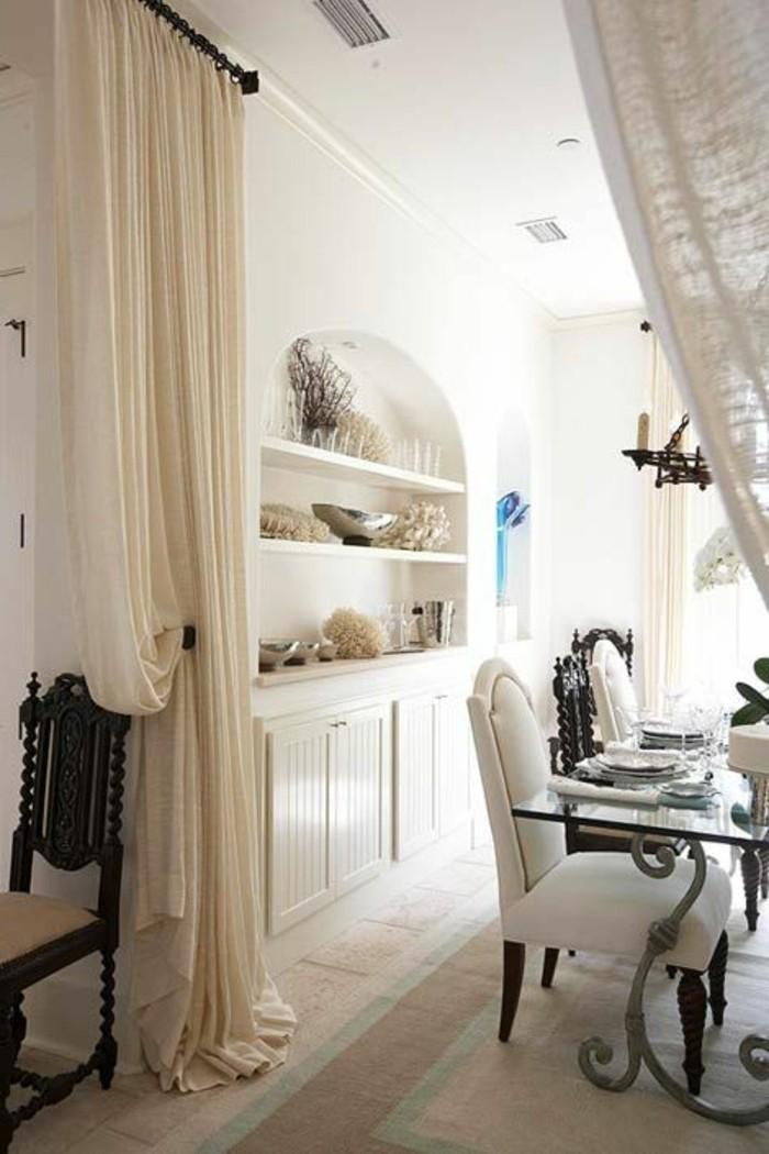 cloison-amovible-leroy-merlin-rideau-separer-la-cuisine-avec-rideua-beige