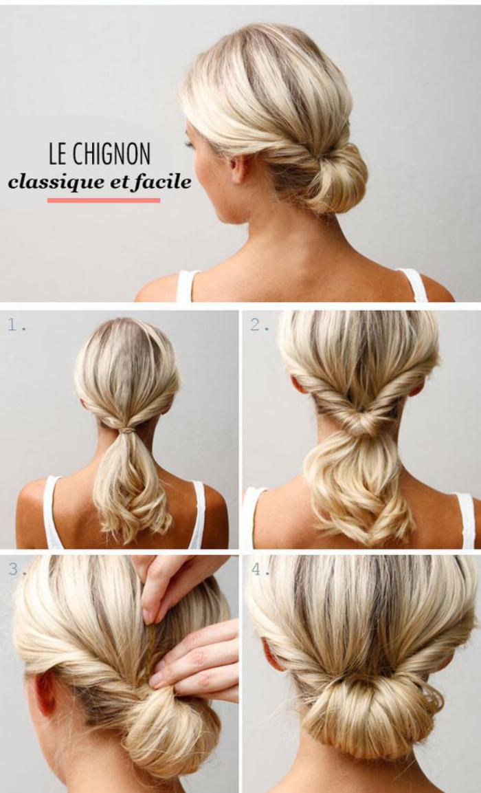 coiffure-originale-chignon-classique-à-faire-soi-même