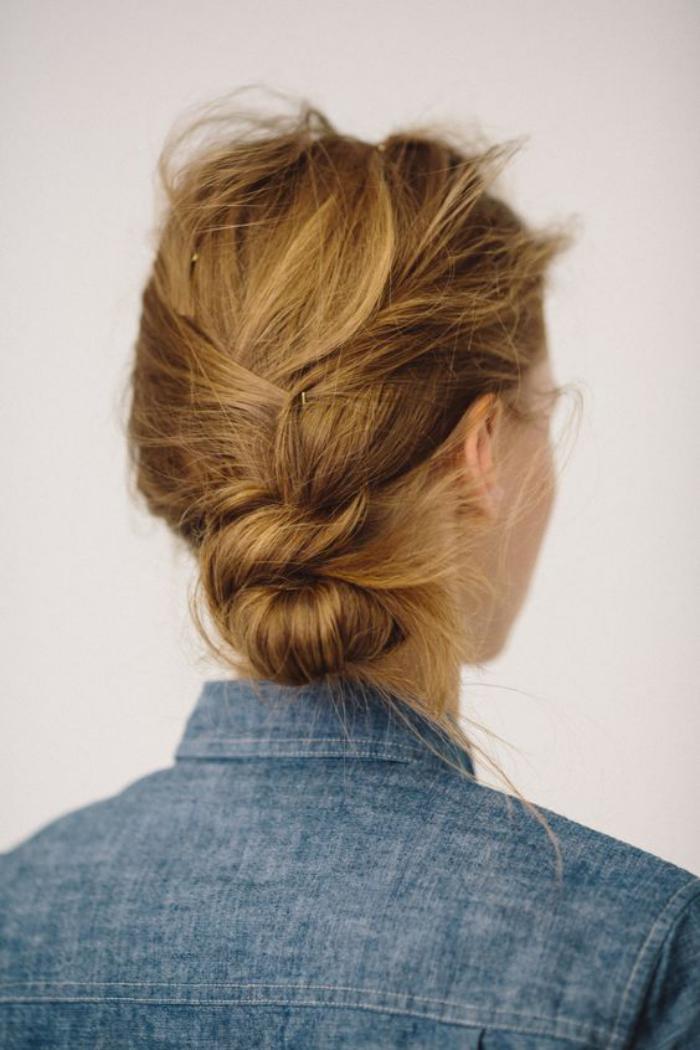 coiffure-originale-chignon-décontracté