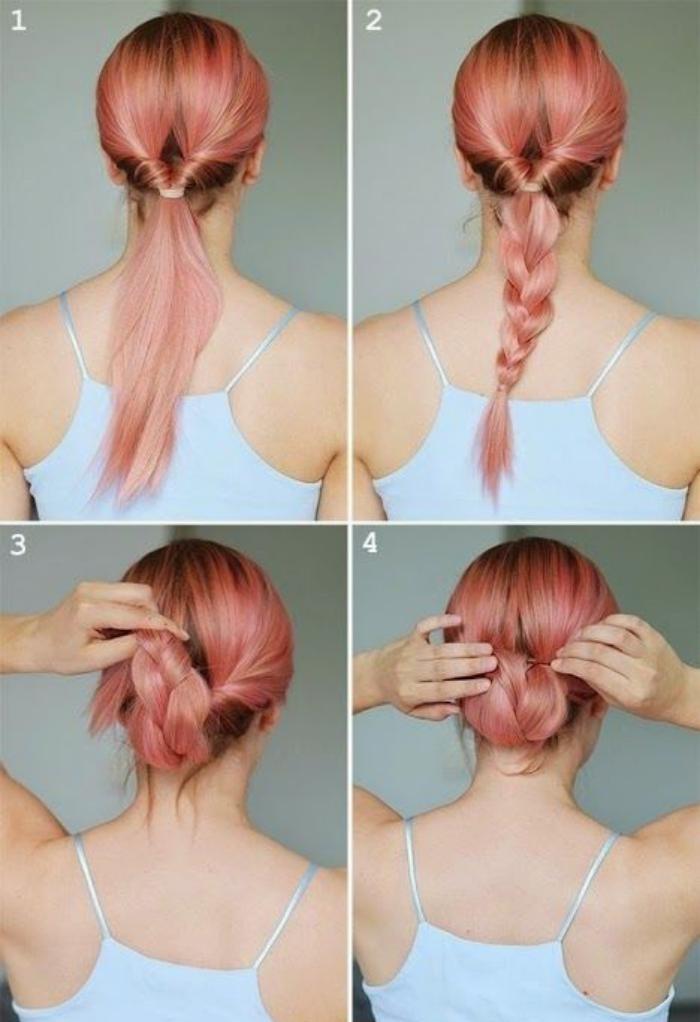 coiffure-originale-comment-faire-un-chignon-idée-chignpn-facile