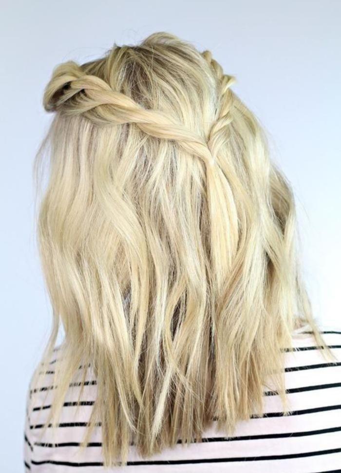 coiffure-originale-couronne-tressée-cheveux-mi-long