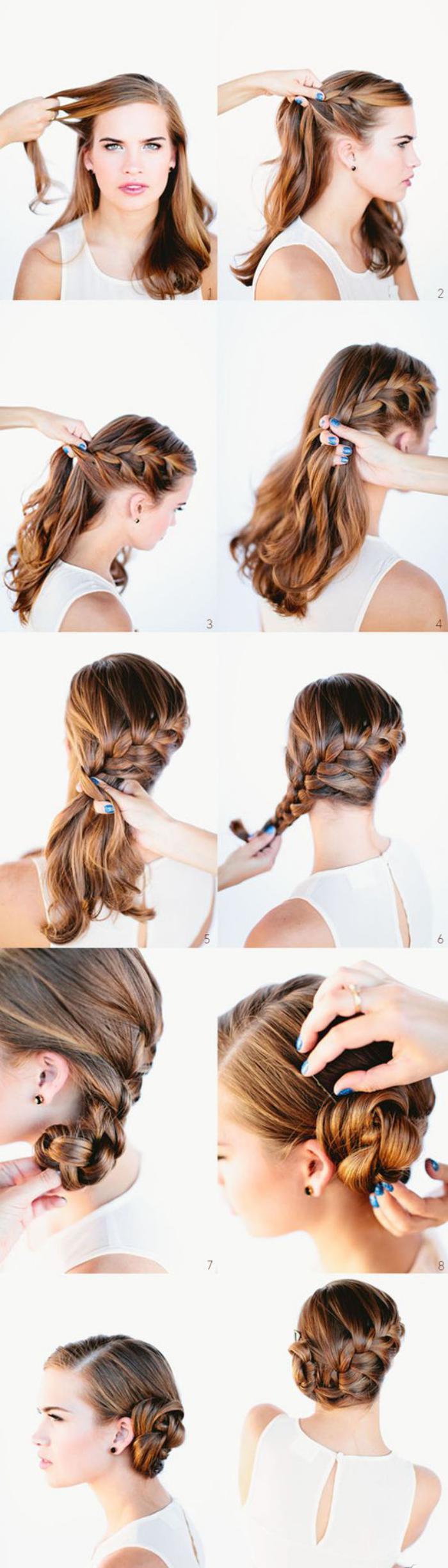 coiffure-originale-faire-un-chignon-tressé