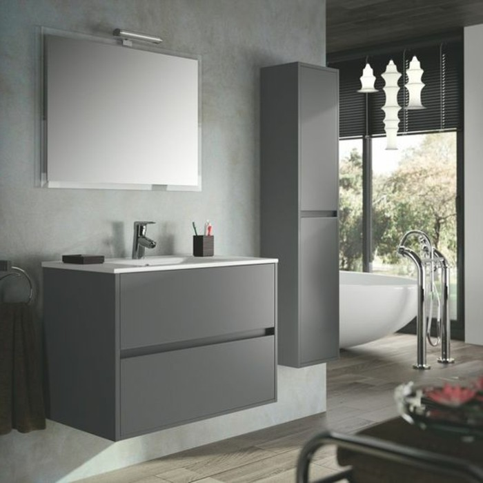 la colonne de salle de bain nos propositions en 58 photos. Black Bedroom Furniture Sets. Home Design Ideas