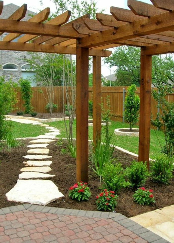 Nos propositions en vid os pour faire une all e de jardin for Pergola originale