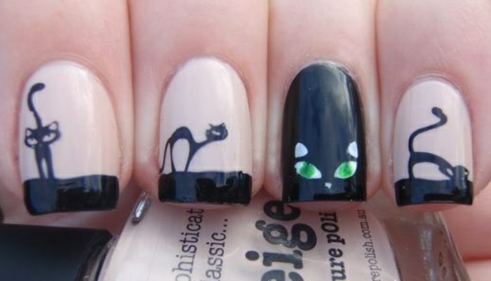 cool-décoration-ongle-original-ongles-originaux-chatons
