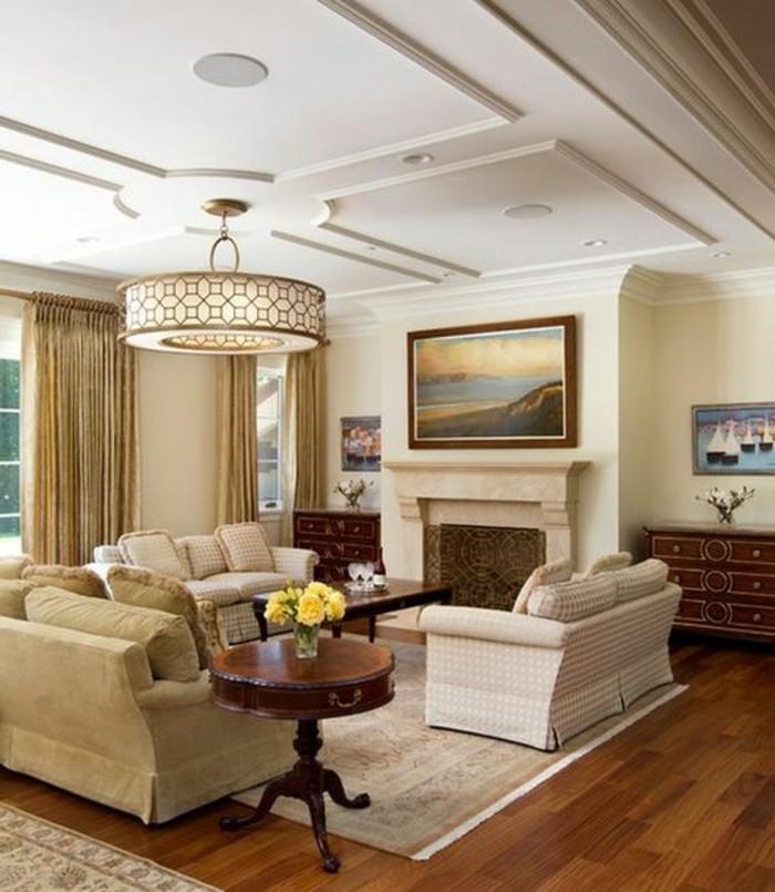 cool-idée-faux-plafond-contemporain-salle-de-sejour-contemporain-plafond