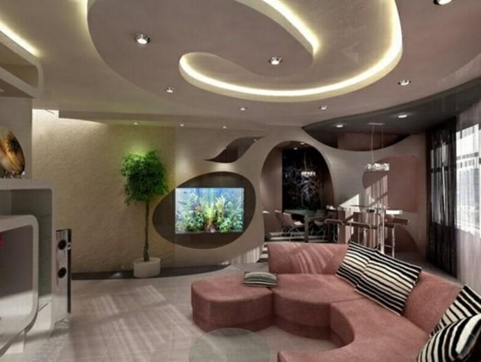 cool-idee-corniche-plafond-moderne-idée-design-quelle-deco-de-plafond-faux-plafond-décoratif