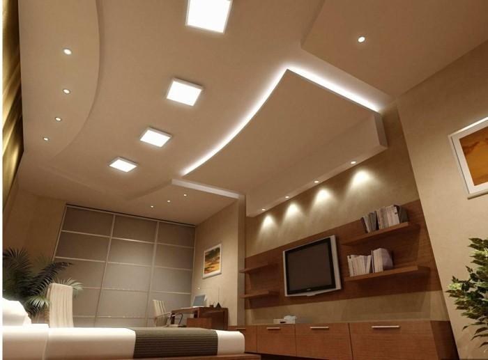 Maison stylée contemporaine à l\'aide de plafond moderne - Archzine.fr