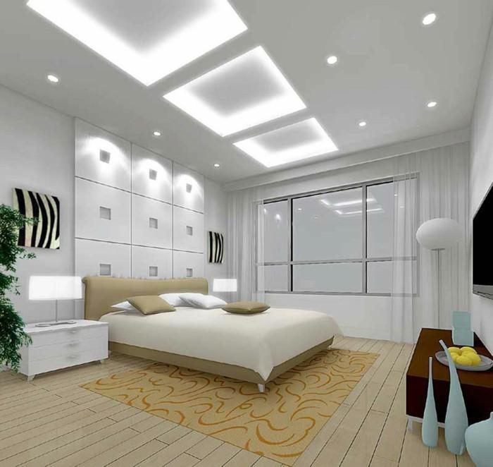 corniche-plafond-moderne-idée-design-chambre-a-couher