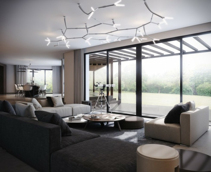 corniche-plafond-moderne-idée-design-decoration-plafond-platre-décoration-plafond