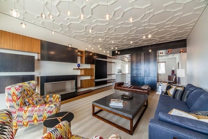 corniche-plafond-moderne-idée-design-geometrique-superbe-decoration-faux-plafond-cuisine-design
