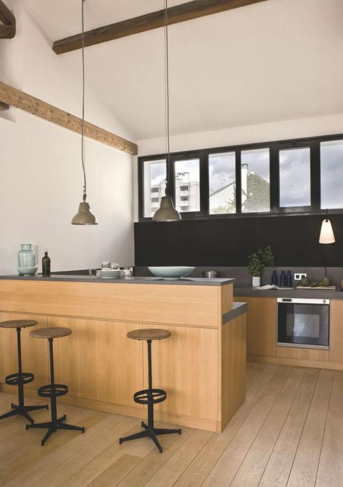 cuisine-avec-bar-aménagement-cuisine-avec-bar