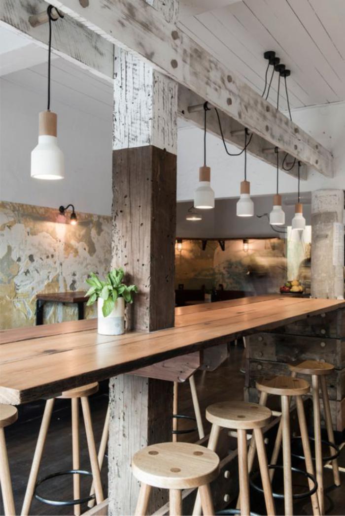 D couvrez nos 84 jolies propositions pour cuisine avec bar for Table de cuisine suspendue