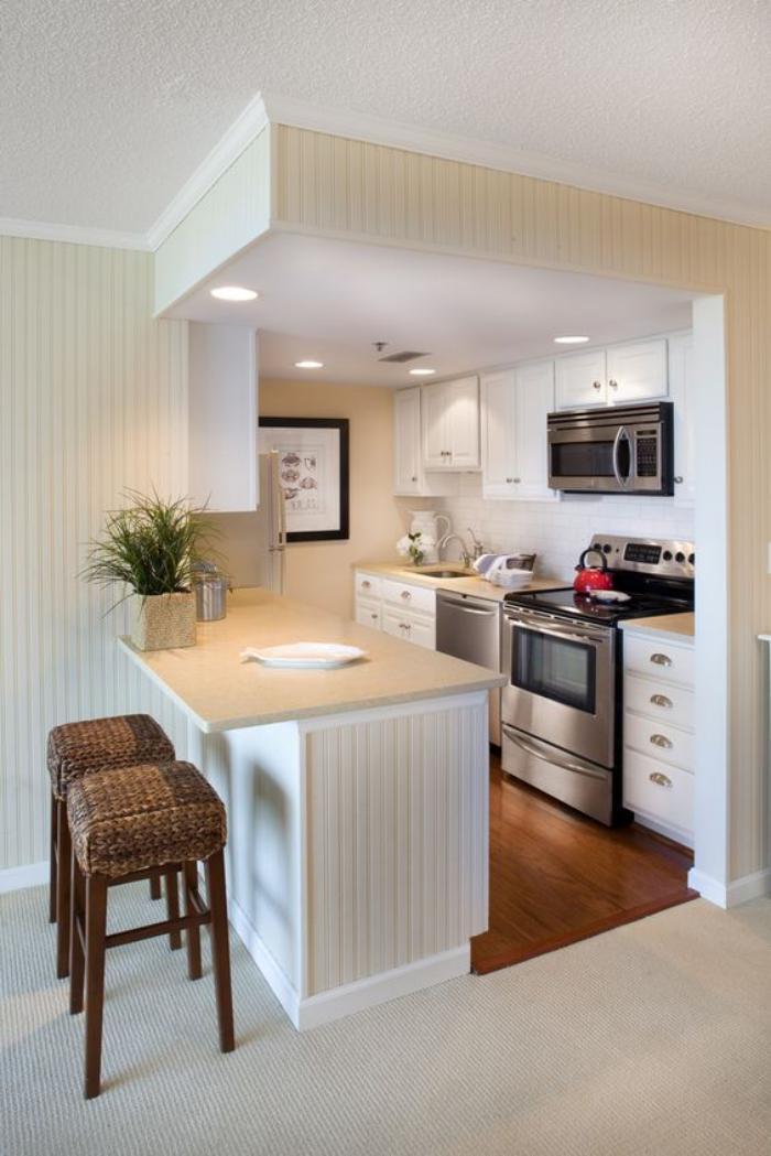 cuisine-avec-bar-bar-de-cuisine-blanc-et-bois