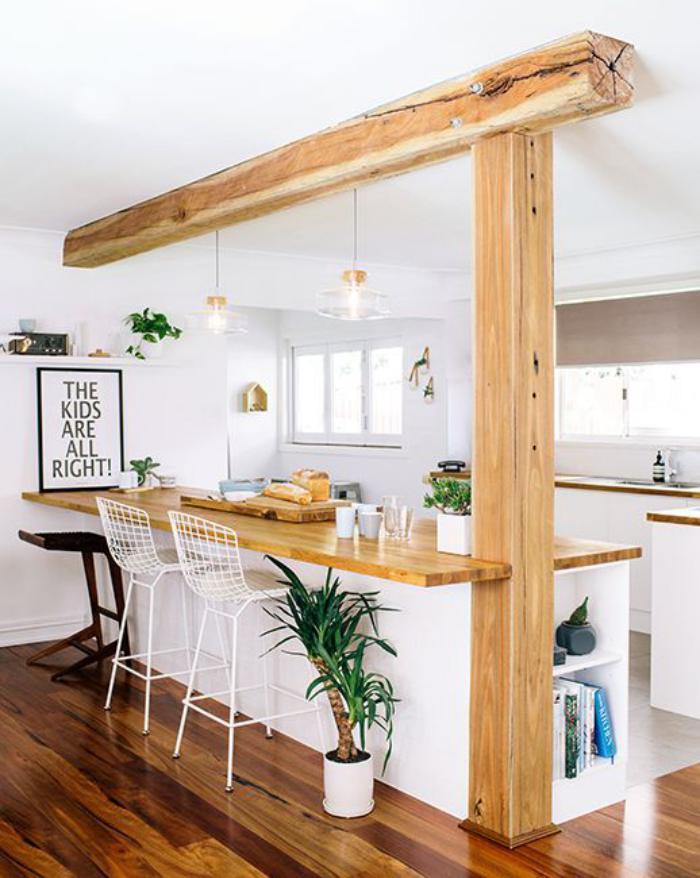 cuisine-avec-bar-cuisine-et-bar-en-bois