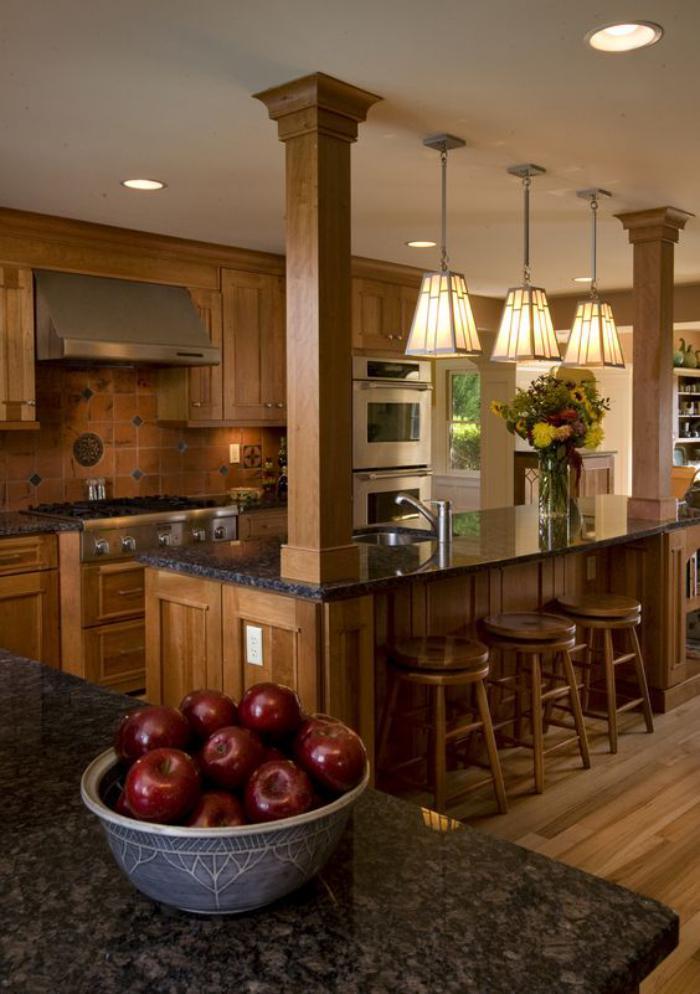 D couvrez nos 84 jolies propositions pour cuisine avec bar for Cuisine americaine bois