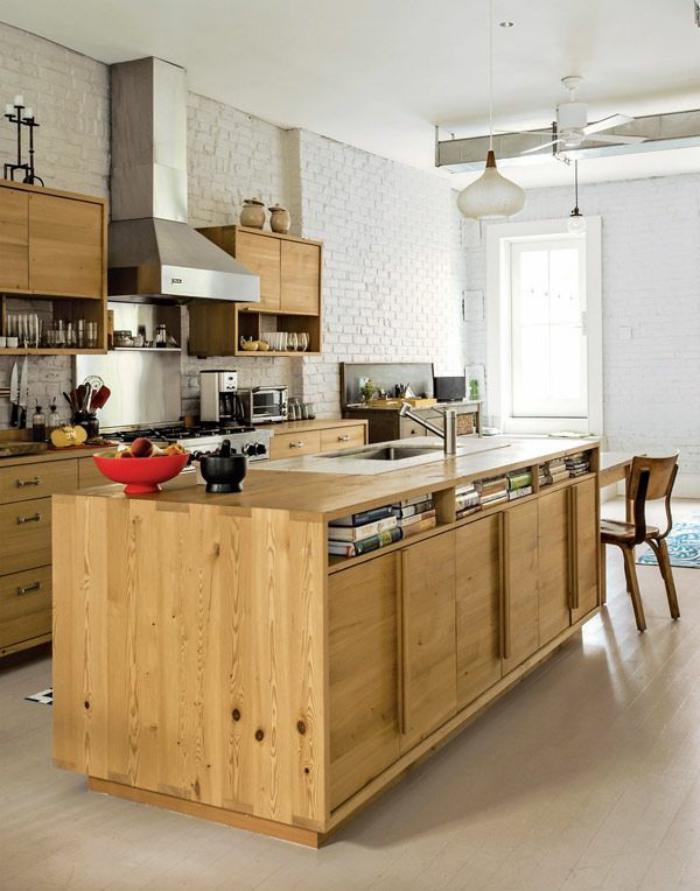 cuisine-avec-bar-idée-aménagement-cuisine-bar