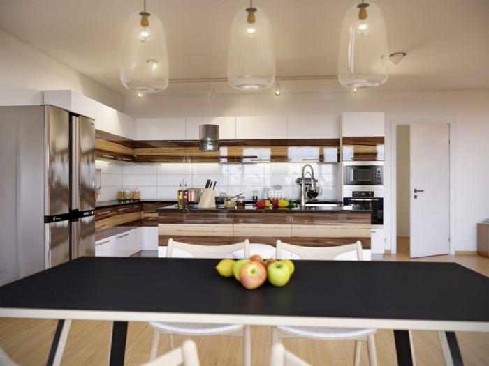 Chambre Ado Garcon Bleu Gris : cuisine blanche avec plan de travail noir en combinaison avec des