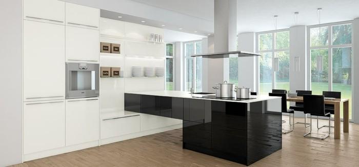 cuisine-blanche-avec-plan-de-travail-noir-modernistique-de-forme-excentrique-resized
