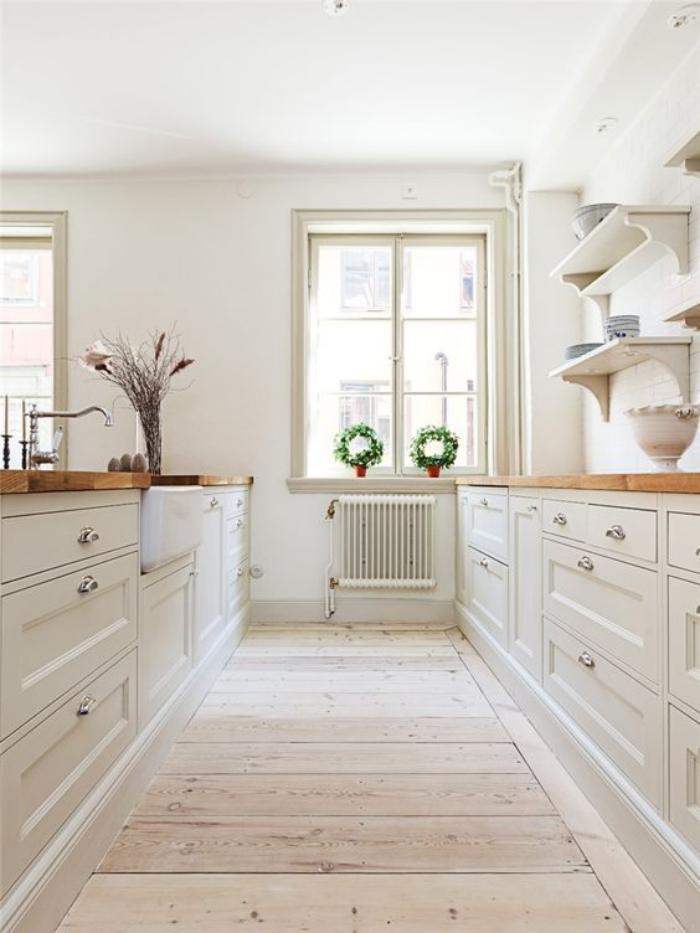 cuisine-blanche-et-bois-aménager-une-jolie-cuisine