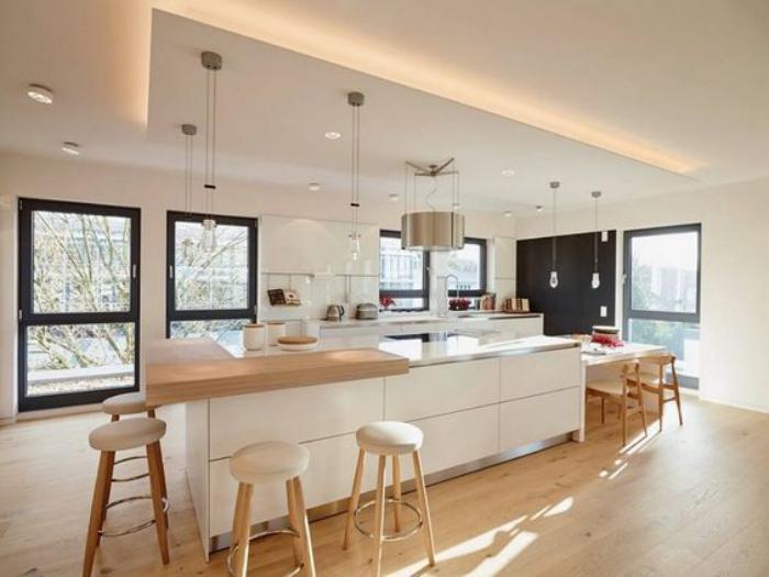 Cuisine blanche en bois - Le bois chez vous